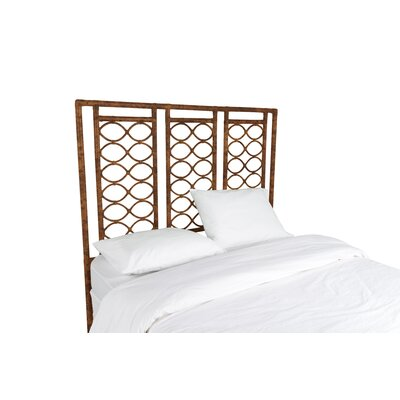 Infinity Open-Frame Headboard Finish: Tortoise Shell, Size: Queen