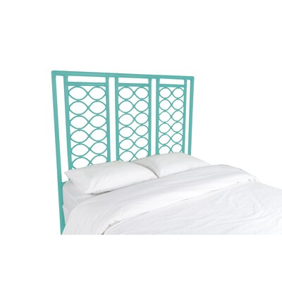 Infinity Open-Frame Headboard Color: Turquoise, Size: King