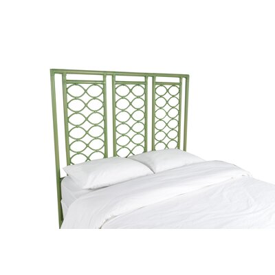 Infinity Open-Frame Headboard Color: Celery Green, Size: Queen