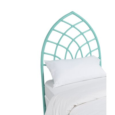 Cathedral Twin Open-Frame Headboard Finish: Turquoise