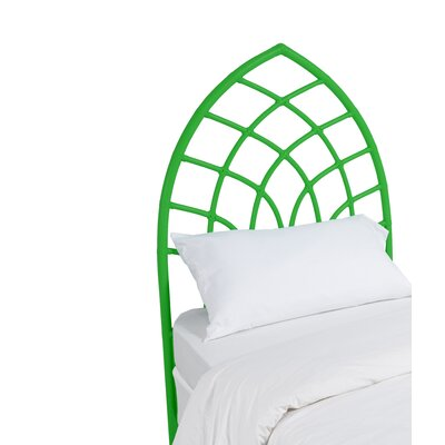Cathedral Twin Open-Frame Headboard Color: Bright Green