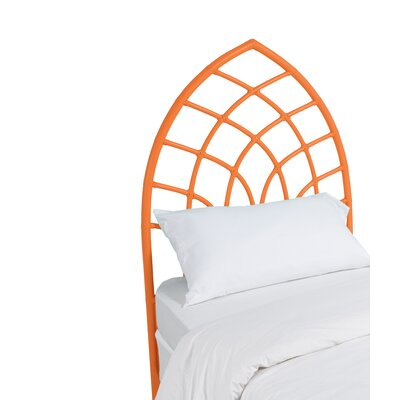 Cathedral Twin Open-Frame Headboard Color: Citrus Orange