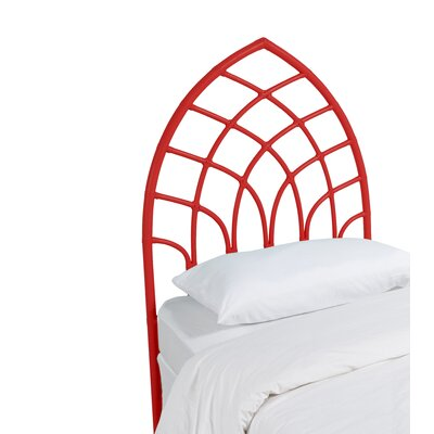 Cathedral Twin Open-Frame Headboard Finish: Fire Red