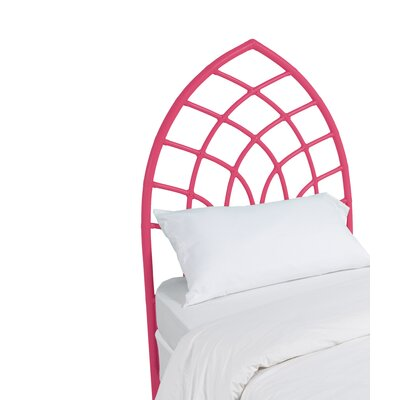 Cathedral Twin Open-Frame Headboard Color: Hot Pink