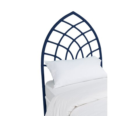 Cathedral Twin Open-Frame Headboard Finish: Navy Blue