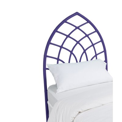 Cathedral Twin Open-Frame Headboard Color: Perfect Purple