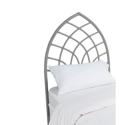 Cathedral Twin Open-Frame Headboard Finish: Steel Gray