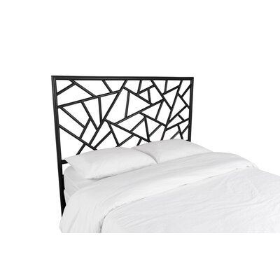 Tiffany Open-Frame Headboard Color: Black, Size: Queen