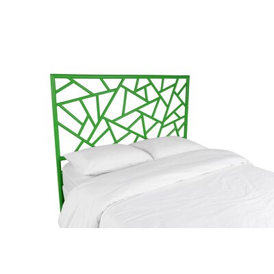 Tiffany Open-Frame Headboard Color: Bright Green, Size: Queen