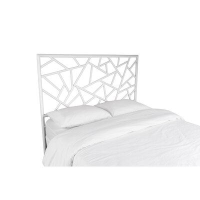 Tiffany Open-Frame Headboard Color: Bright White, Size: Twin
