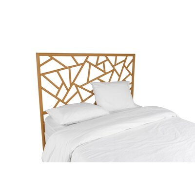 Tiffany Open-Frame Headboard Finish: Camel Brown, Size: Queen
