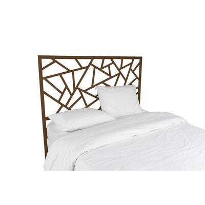 Tiffany Open-Frame Headboard Color: Coffee Brown, Size: Twin