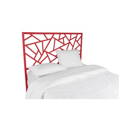 Tiffany Open-Frame Headboard Color: Fire Red, Size: King