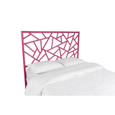 Tiffany Open-Frame Headboard Finish: Hot Pink, Size: Queen