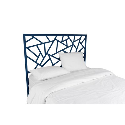 Tiffany Open-Frame Headboard Color: Navy Blue, Size: Twin