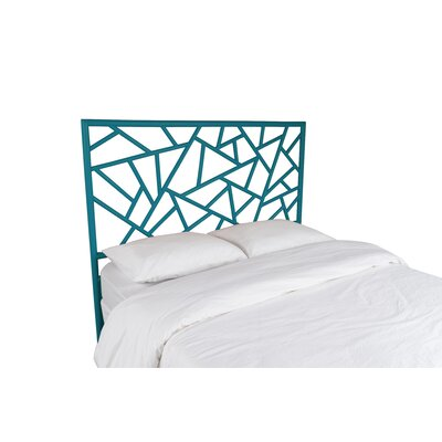 Tiffany Open-Frame Headboard Color: Pacific Blue, Size: Queen
