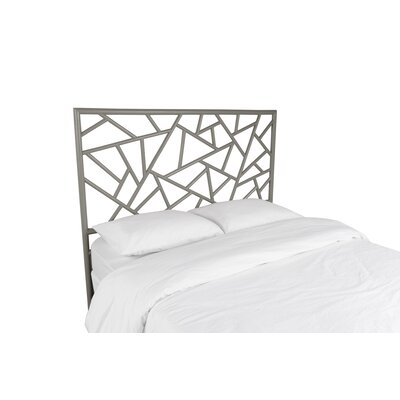 Tiffany Open-Frame Headboard Color: Steel Gray, Size: King