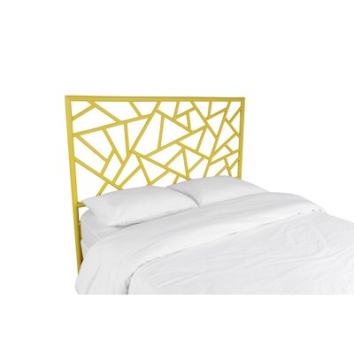 Tiffany Open-Frame Headboard Color: Sunflower Yellow, Size: King