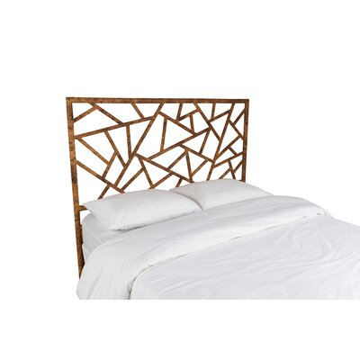 Tiffany Open-Frame Headboard Color: Tortoise Shell, Size: Queen