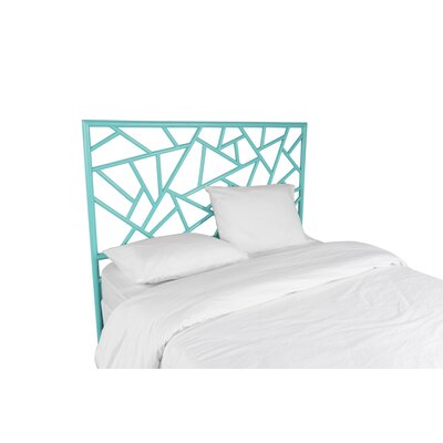 Tiffany Open-Frame Headboard Color: Turquoise, Size: Queen