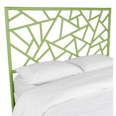 Tiffany Open-Frame Headboard Color: Celery Green, Size: Queen
