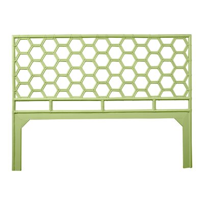 Honeycomb Open-Frame Headboard Color: Celery Green, Size: King