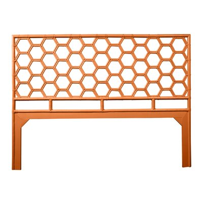 Honeycomb Open-Frame Headboard Color: Citrus Orange, Size: King