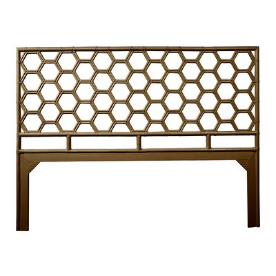 Honeycomb Open-Frame Headboard Color: Coffee Brown, Size: King