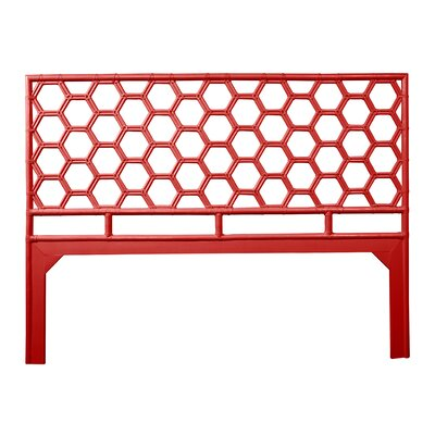 Honeycomb Open-Frame Headboard Color: Fire Red, Size: Twin