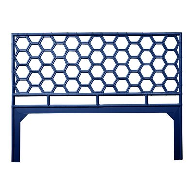 Honeycomb Open-Frame Headboard Color: Navy Blue, Size: Queen