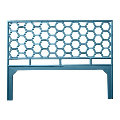 Honeycomb Open-Frame Headboard Color: Pacific Blue, Size: King