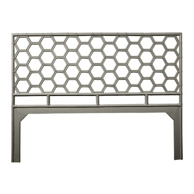 Honeycomb Open-Frame Headboard Color: Steel Gray, Size: King