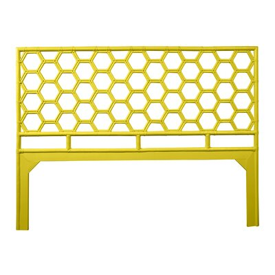 Honeycomb Open-Frame Headboard Color: Sunflower Yellow, Size: Queen