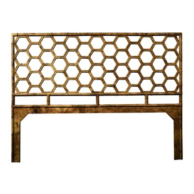 Honeycomb Open-Frame Headboard Color: Tortoise Shell, Size: Queen