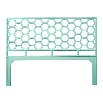 Honeycomb Open-Frame Headboard Color: Turquoise, Size: King