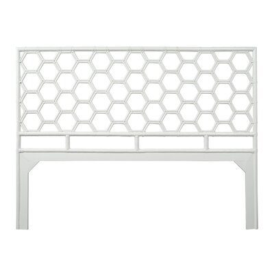 Honeycomb Open-Frame Headboard Color: Bright White, Size: King