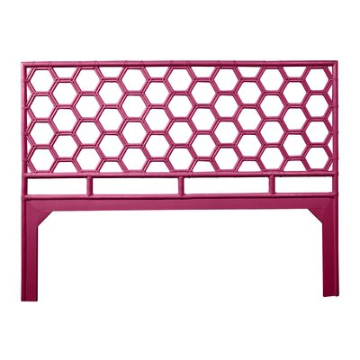 Honeycomb Open-Frame Headboard Color: Hot Pink, Size: King