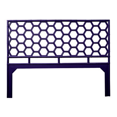 Honeycomb Open-Frame Headboard Color: Perfect Purple, Size: King
