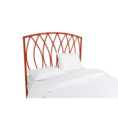Royal Palm Open Frame Headboard Color: Fire Red, Size: Twin