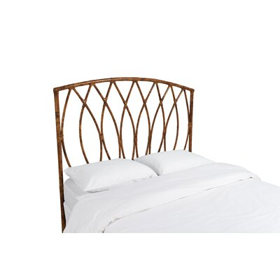 Royal Palm Open Frame Headboard Color: Tortoise Shell, Size: Queen
