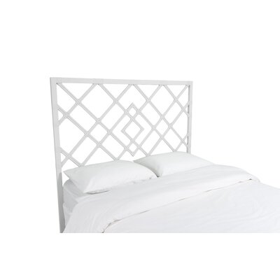 Darien Open Frame Headboard Finish: Bright White, Size: Queen