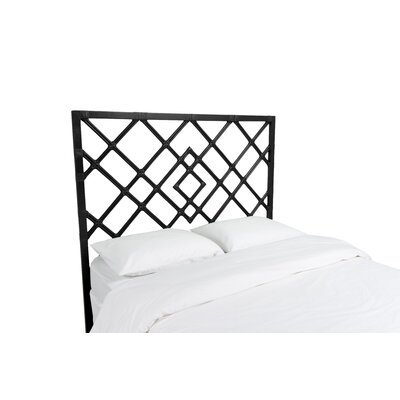 Darien Open Frame Headboard Finish: Black, Size: Queen