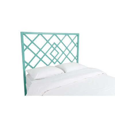 Darien Open Frame Headboard Color: Turquoise, Size: Queen