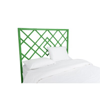 Darien Open Frame Headboard Color: Bright Green, Size: Queen