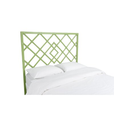 Darien Open Frame Headboard Color: Celery Green, Size: Queen