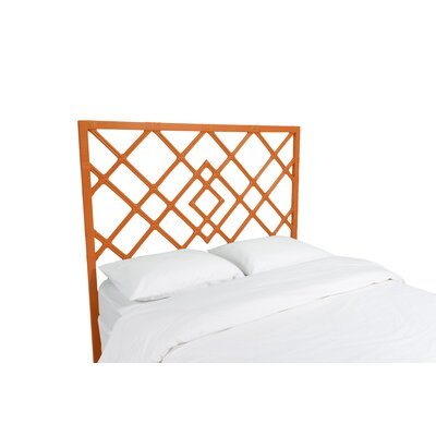 Darien Open Frame Headboard Finish: Citrus Orange, Size: Queen