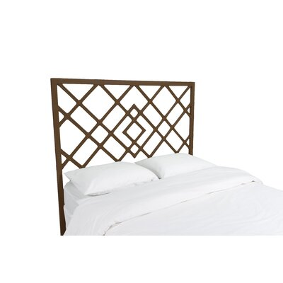 Darien Open Frame Headboard Color: Coffee Brown, Size: Twin