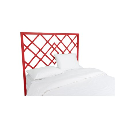 Darien Open Frame Headboard Color: Fire Red, Size: Twin