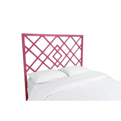 Darien Open Frame Headboard Finish: Hot Pink, Size: King