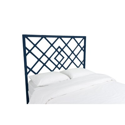 Darien Open Frame Headboard Finish: Navy Blue, Size: Queen